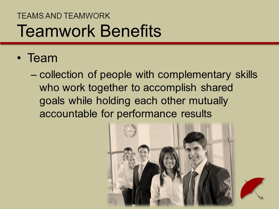 SUCCESSFUL TEAMWORK Effective Teams