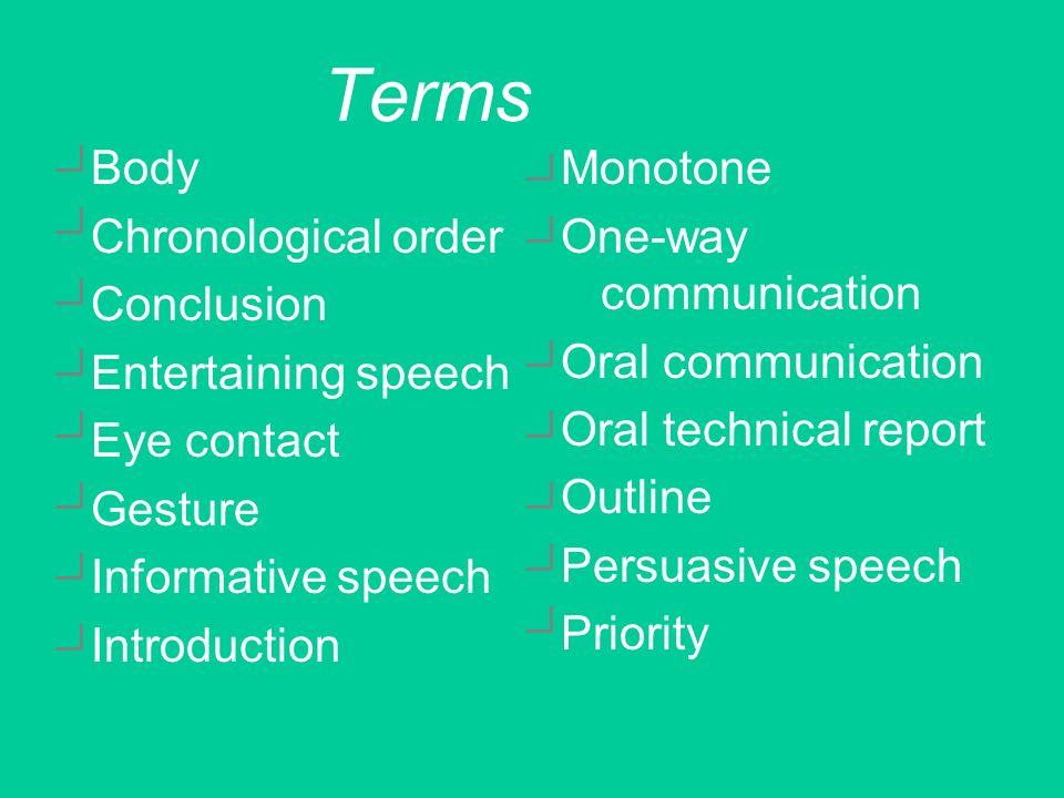 Effective speech techniques