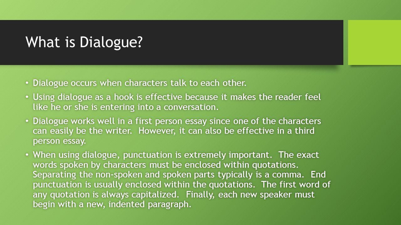 dialouge essay