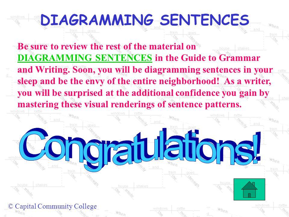 Diagramming sentences capital community college diagramming 14 diagramming sentences ccuart Images