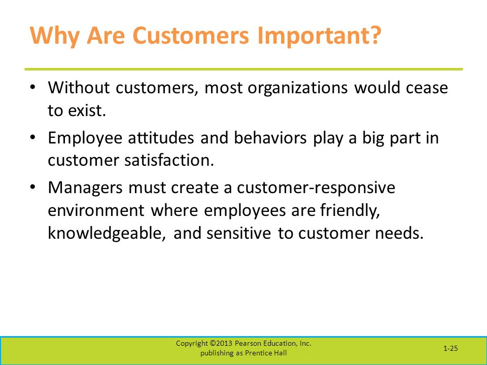 Why Are Customers Important. Without customers, most organizations would cease to exist.