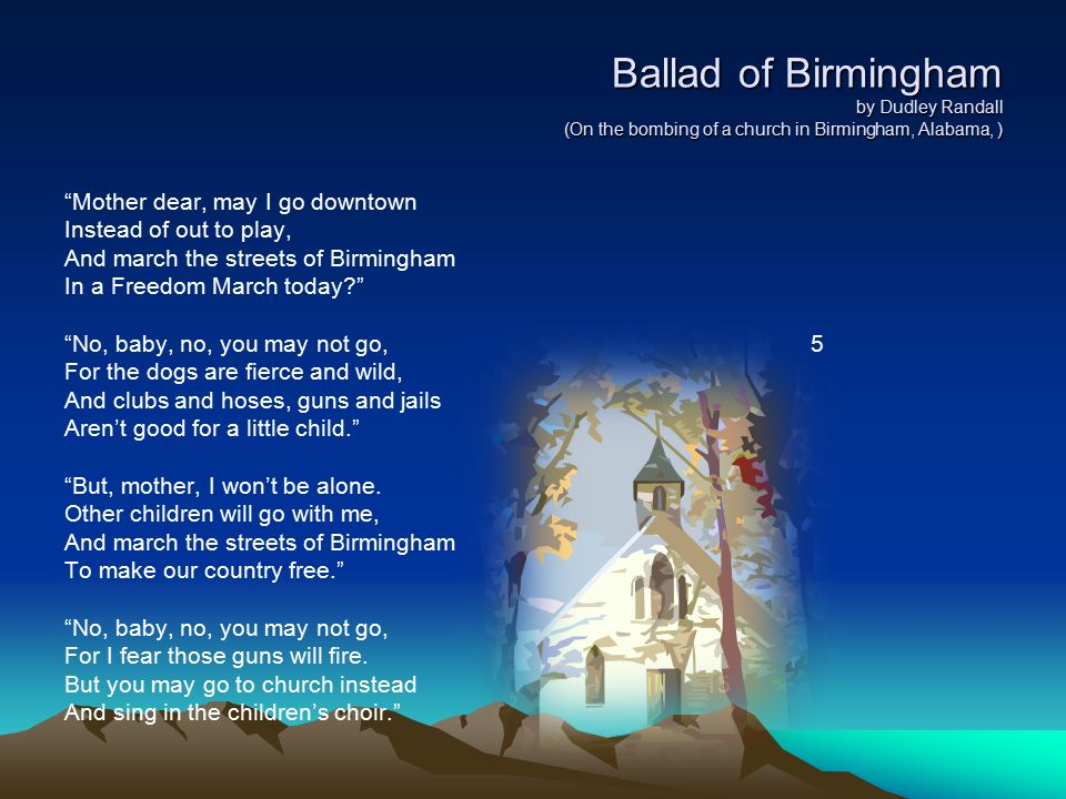 a review of ballad of birmingham by dudley randall