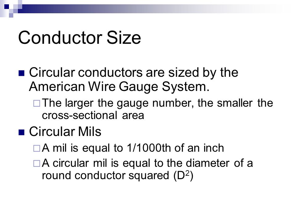 Basic electrical circuit materials colts neck high school applied conductor size circular conductors are sized by the american wire gauge system greentooth Gallery