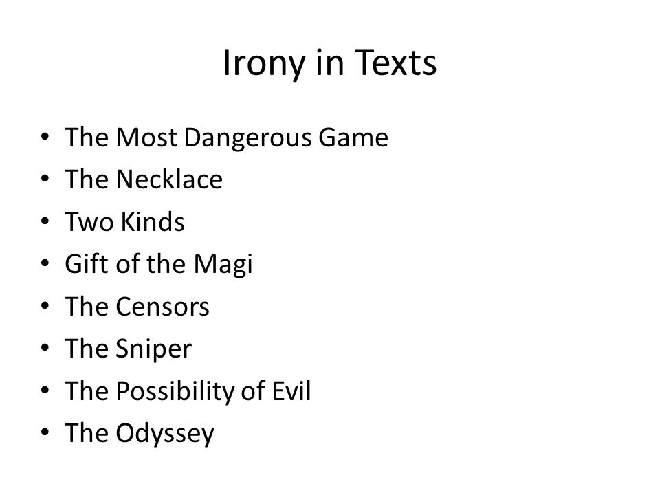 most dangerous game irony