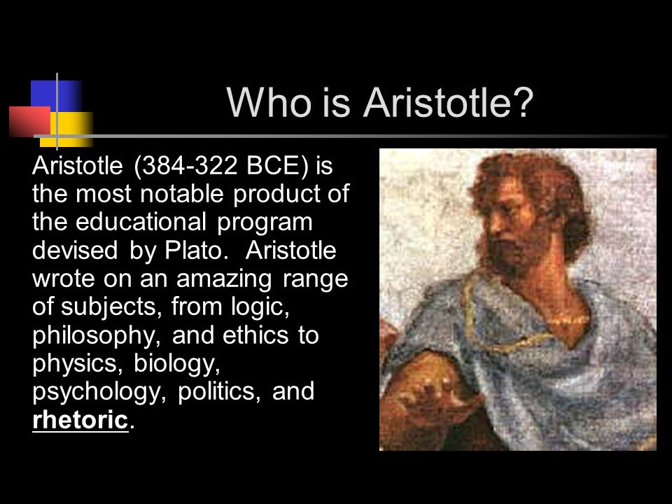 Who is Aristotle.
