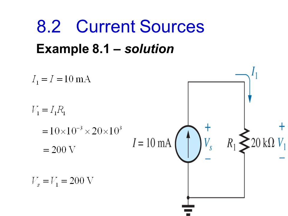 8 82 Current Sources Example 81 Solution