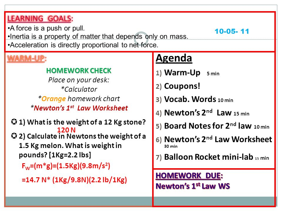 Agenda 1) Warm-Up 5 min 2) Coupons! 3) Vocab. Words 10 min 4 ...