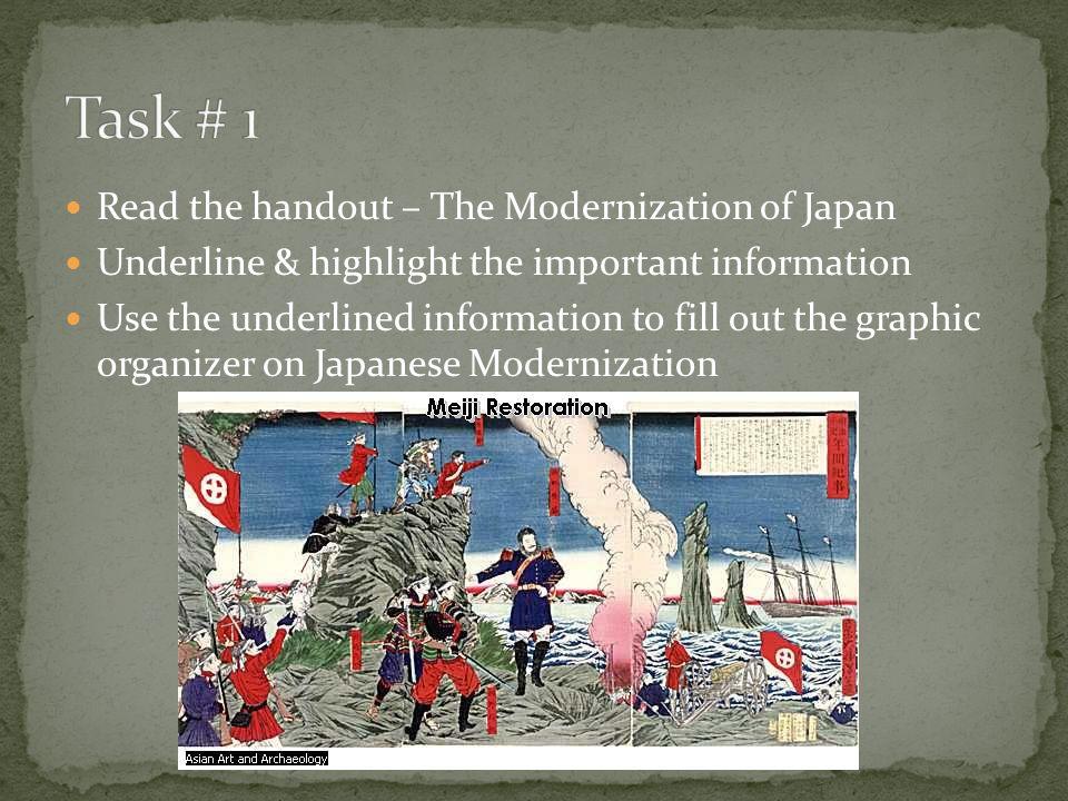 modernisation in japan