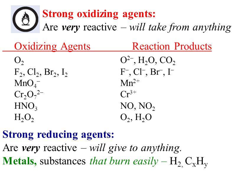 Oxidizing Agents Doritrcatodos