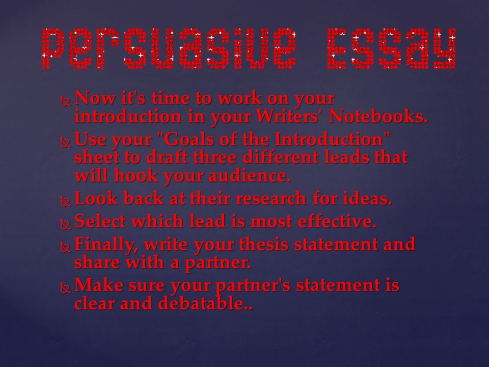 introductions essays persuasive How to begin a persuasive essay persuasive essays appeal to the reader's there are a few different kinds of introductions that are frequently used.