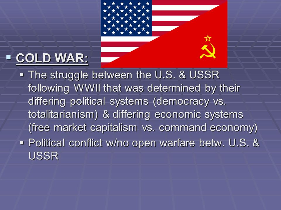 the cold war between the ussr and us Relations between the soviet union and the united states were revelations from the russian archives a renewal of cold war hostility soviet views of.