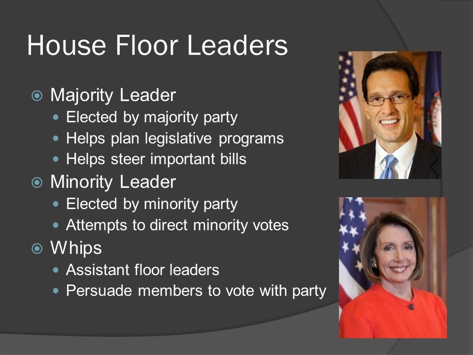 5 House Floor Leaders  Majority ...