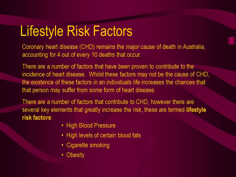 lifestyle diseases and 5 factors that contribute to the disease
