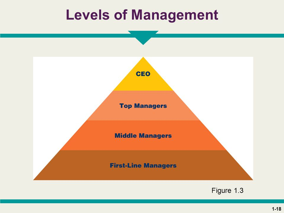 1-18 Levels of Management Figure 1.3