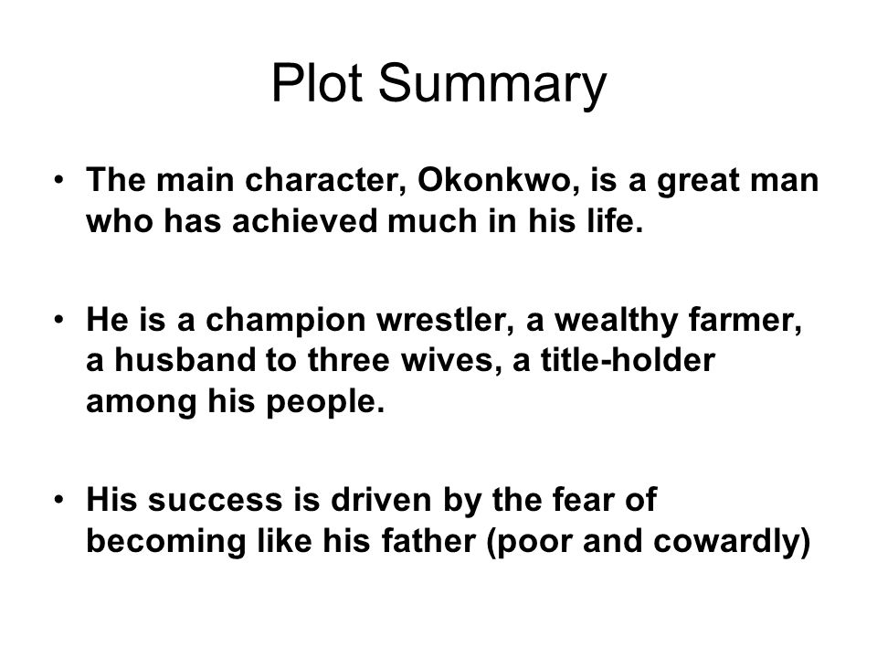 a character analysis okonkwo in achebes things fall apart