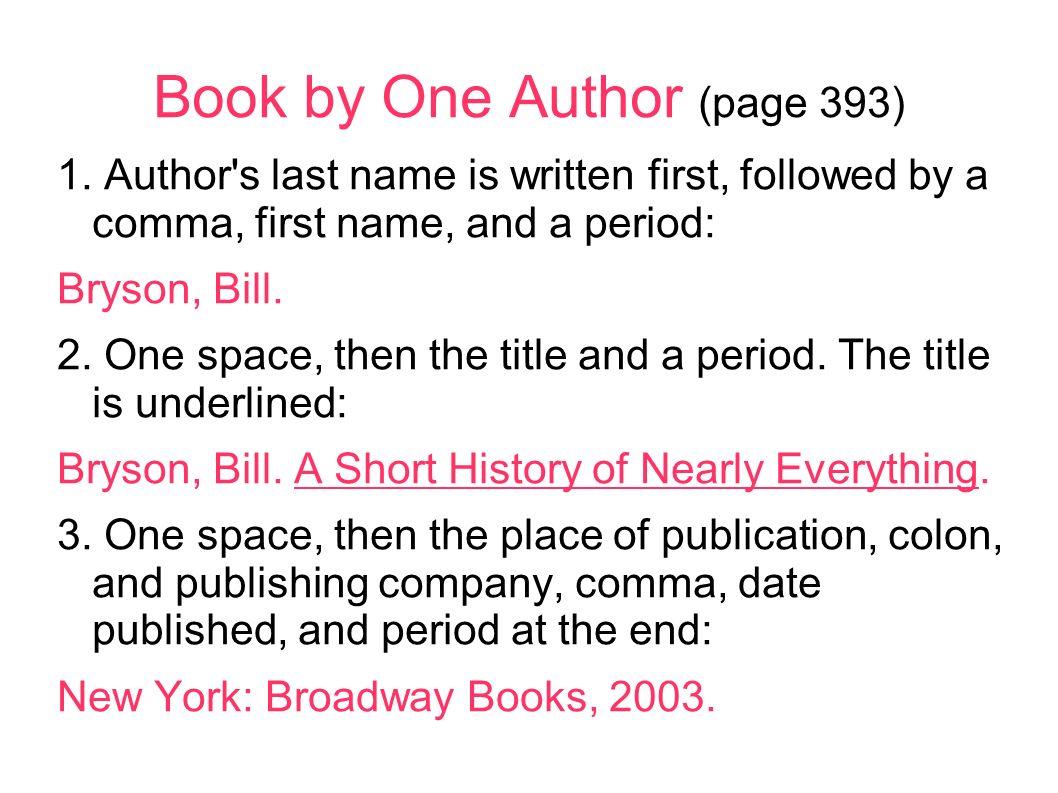 underline author in essay