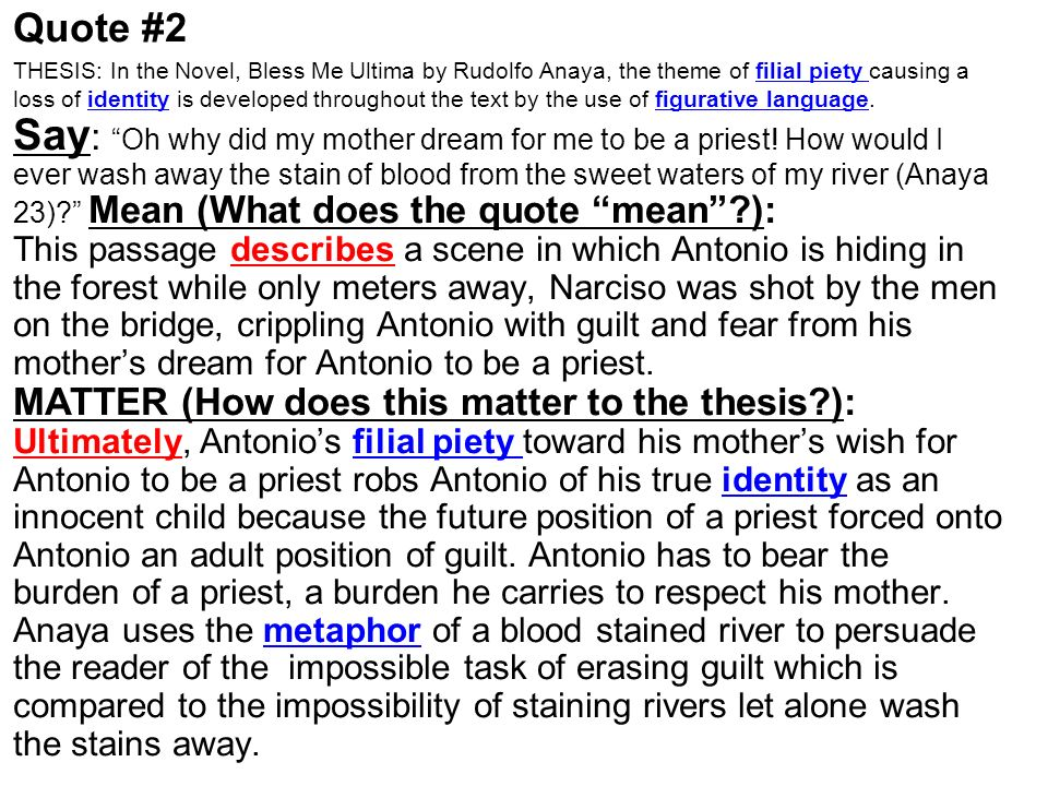 bless me ultima thesis statements Sign up for litcharts a+: pdf downloads, teacher editions, and more | from the creators of sparknotes translations we offer: all's well that ends well antony and.