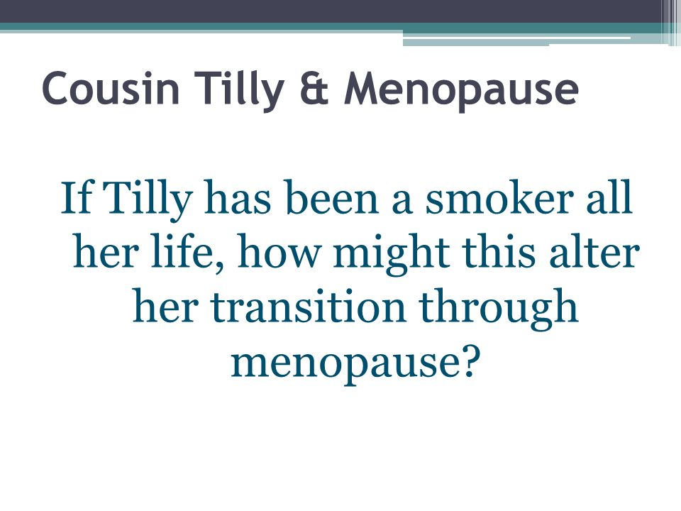 menopause altersverteilung