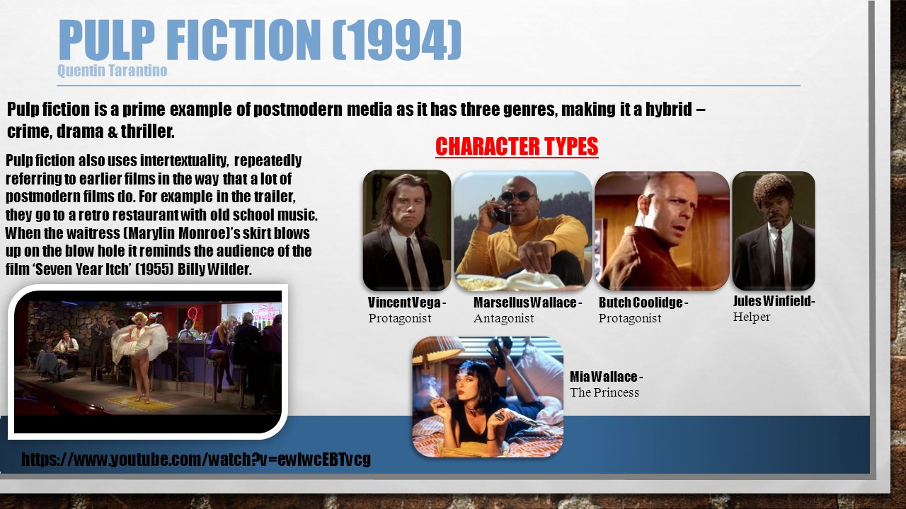 an analysis of the film pulp fiction is incredible