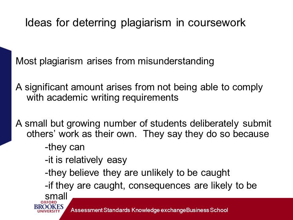 gcse english coursework plagiarism