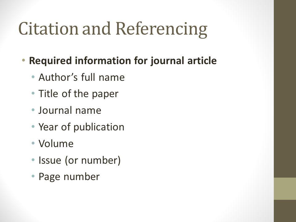 Complete bibliographic citation
