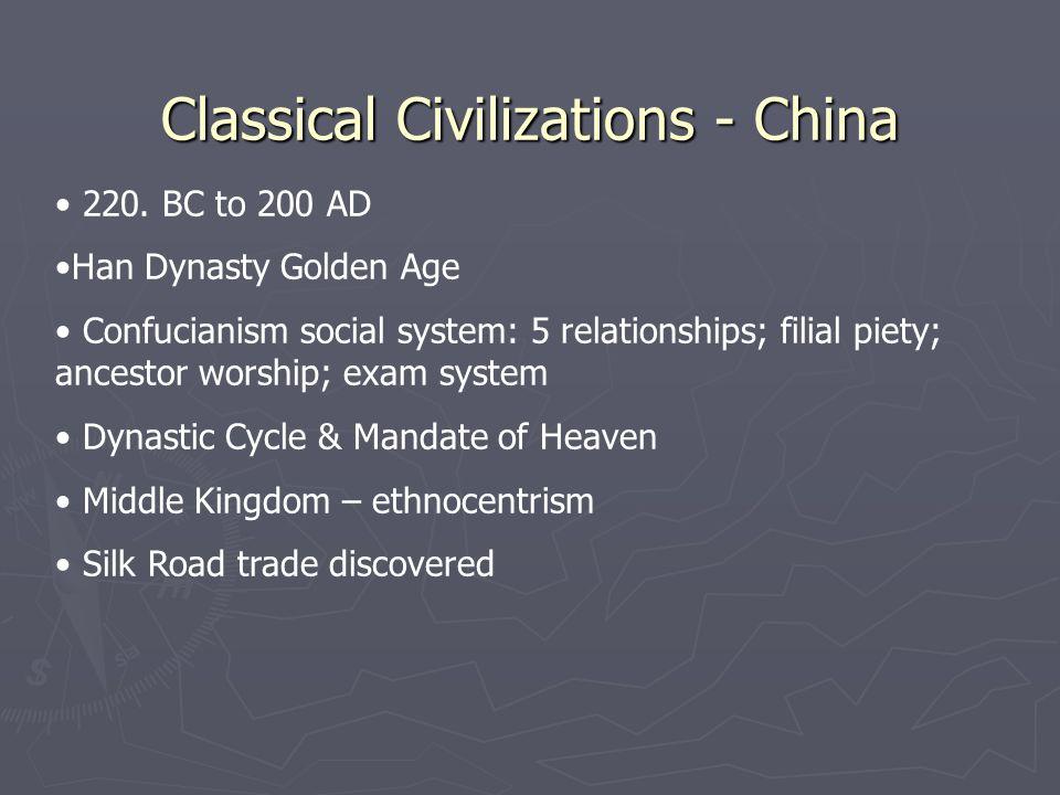 Classical Civilizations - China 220.
