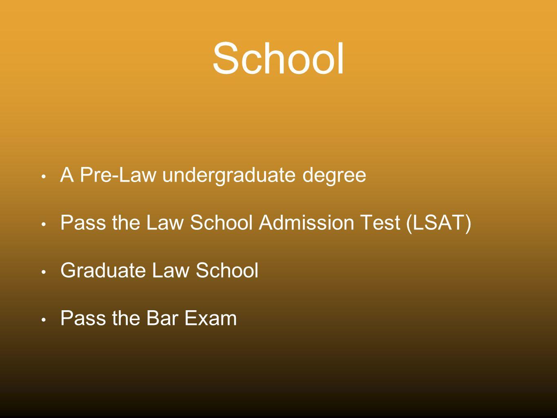 Undergrad Degree and Law School?