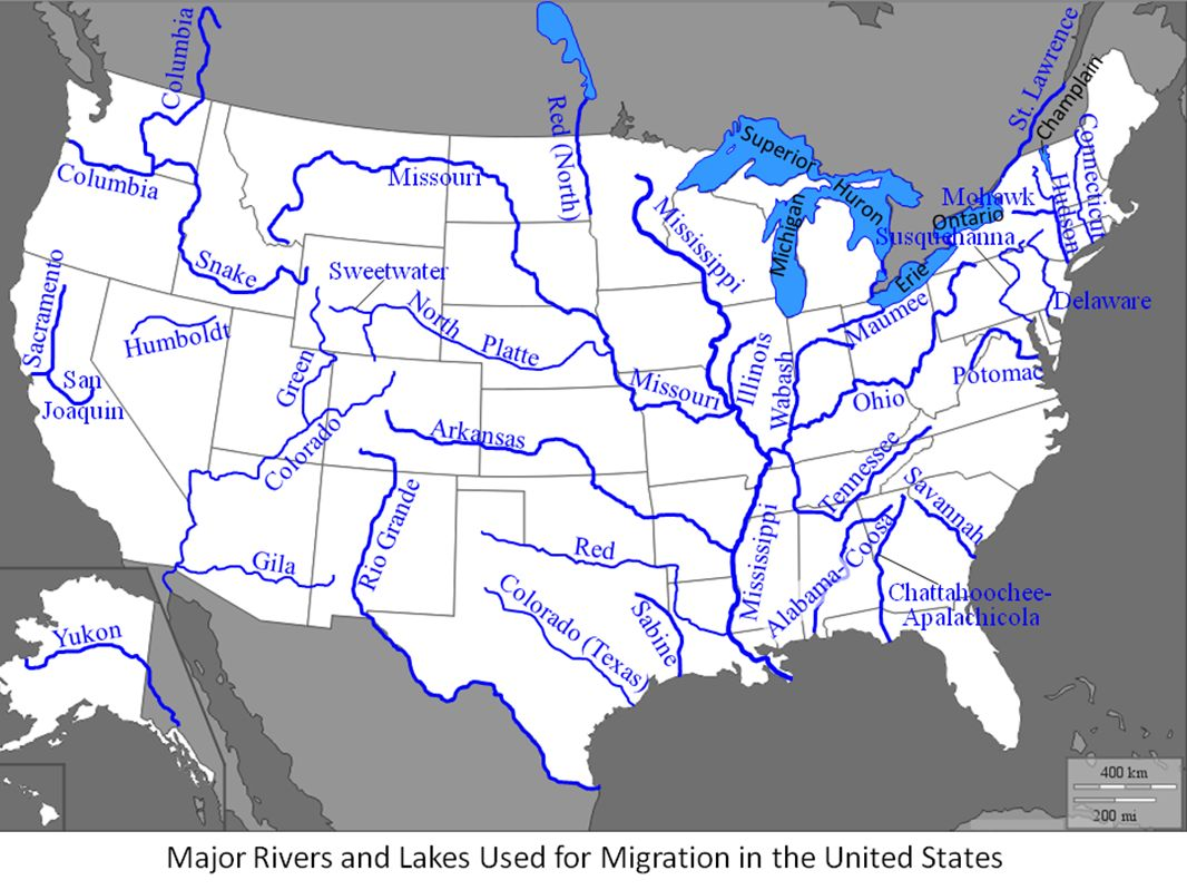 Physical Geography Of The United States Landforms At Over - Us river flow direction map