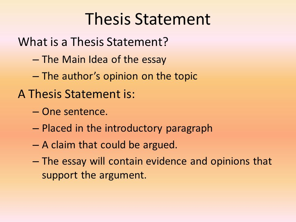 thesis what