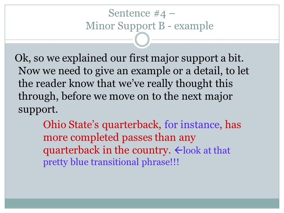 What is a declarative and a minor sentence?