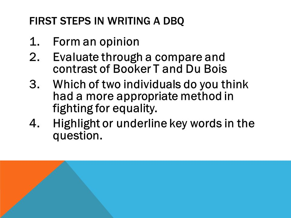 dbq essay writing format