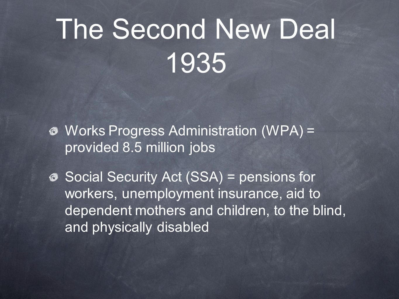 the historic impact of the new deal and the social security act The second agricultural adjustment act president roosevelt's new deal received a history and impact the agricultural adjustment acts: history and.