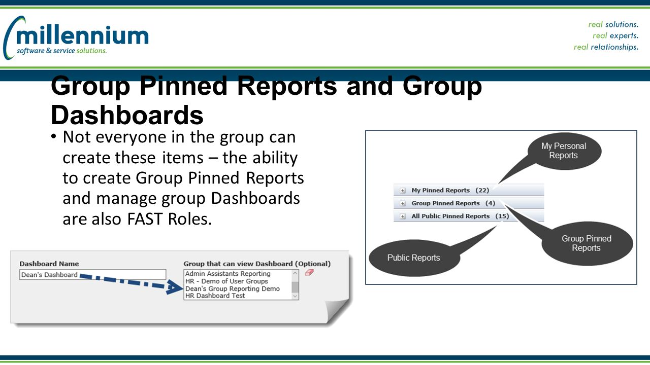 Admin training course taking control of fast step 1 access among not everyone in the group can create these items the ability to create group pinned reports and manage group dashboards are also fast roles xflitez Images