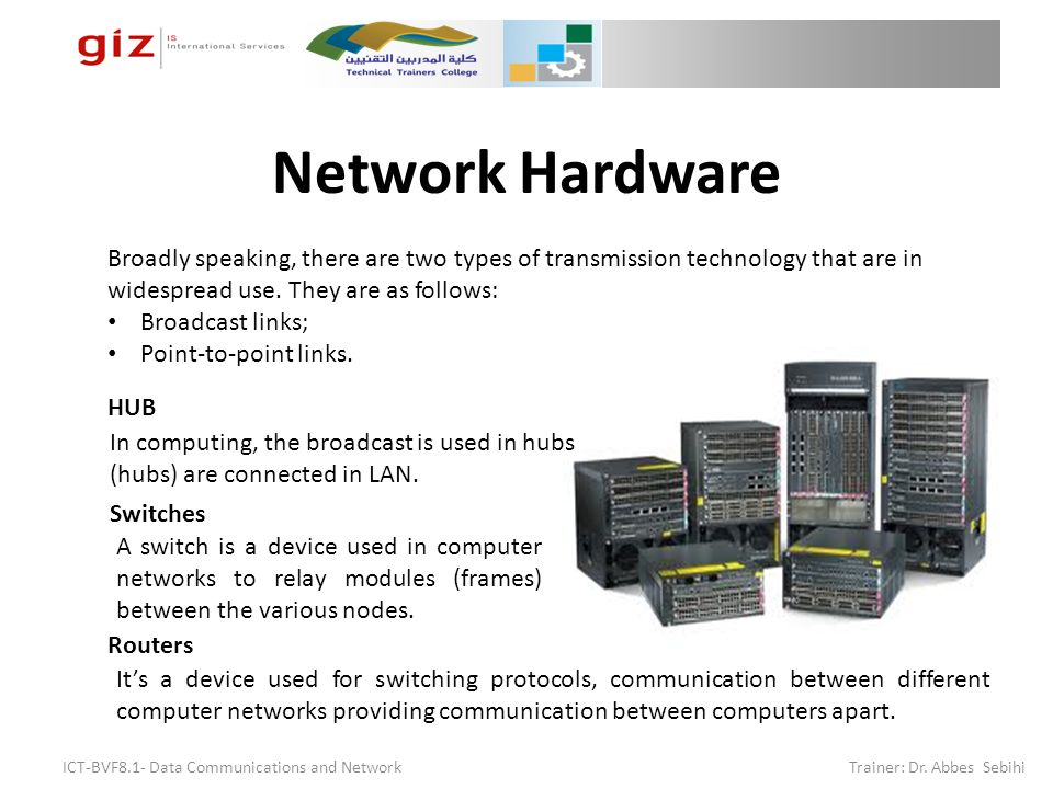 Data Communications And Networks Chapter 10 Network Hardware