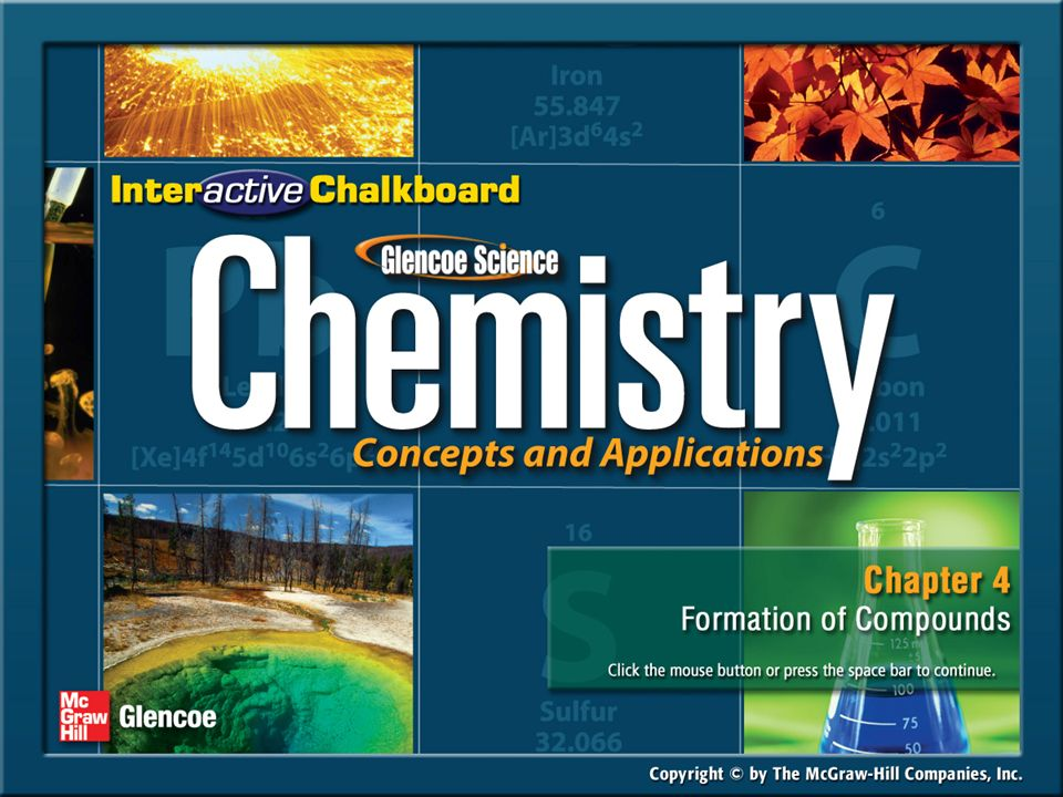 Chapter Menu Section 4.1Section 4.1The Variety of Compounds ...