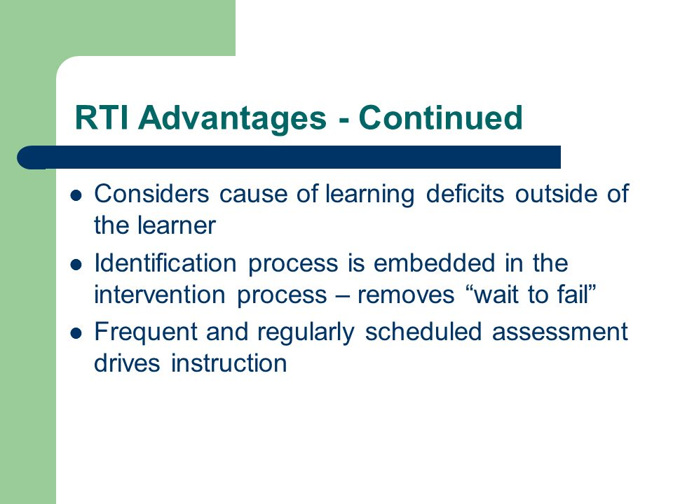 Thesis on rti