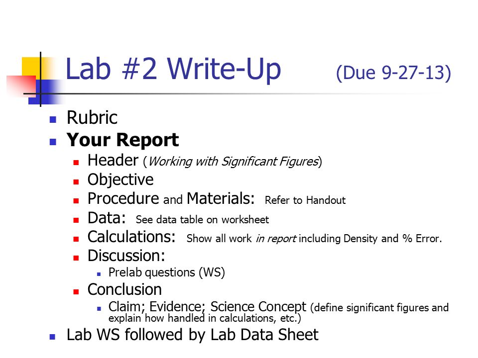 conclusion of a lab report