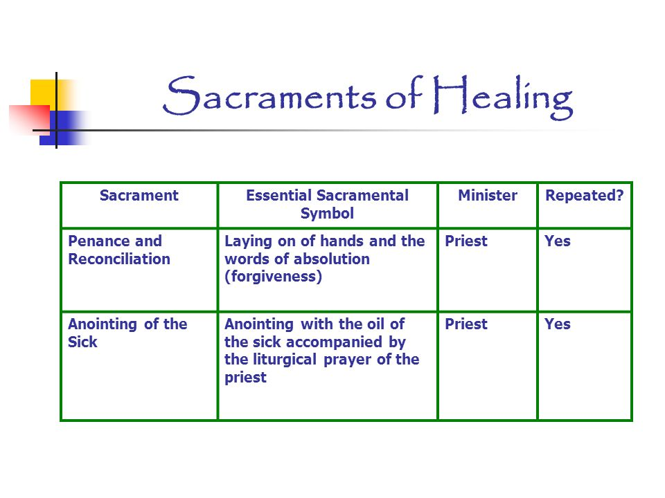 The Seven Sacraments The Sacraments Are Efficacious Signs Of Grace