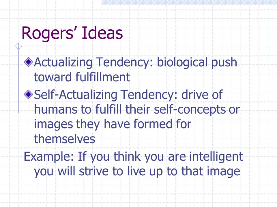Humanistic personality theory people are a genetic blueprint to 4 rogers malvernweather Images