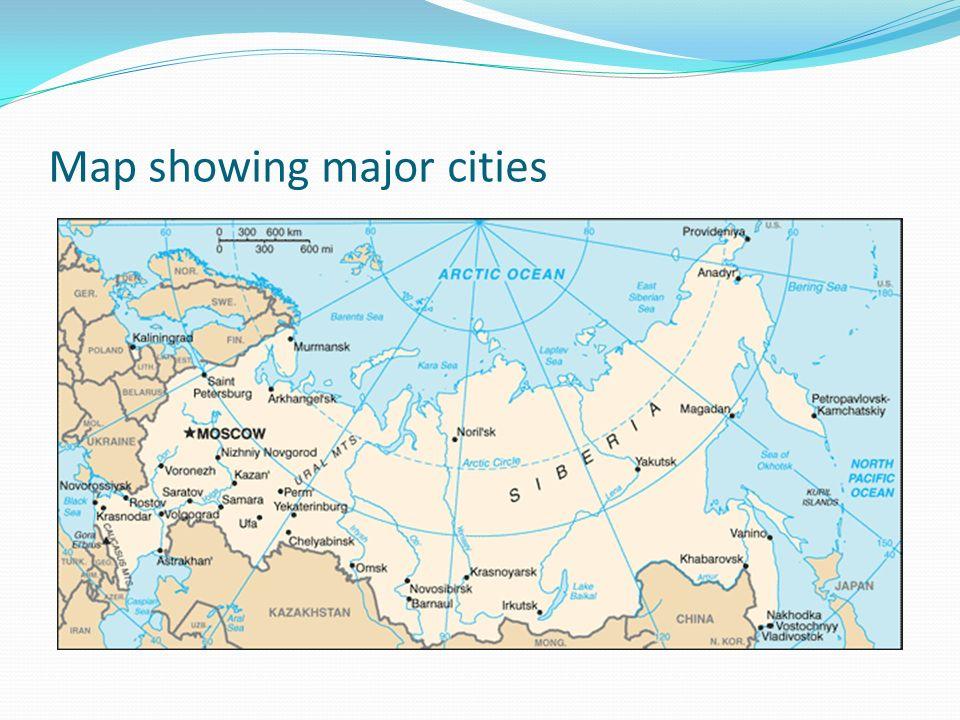 Satoshi Nakayama Population distribution in Russia Distribution of