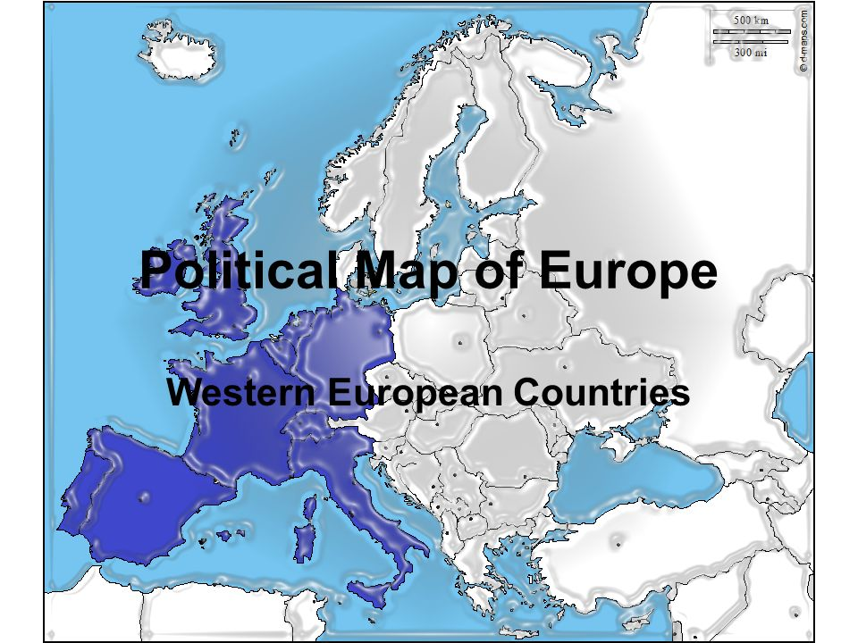 Political Map Of Europe Western European Countries Ppt Download - Western european countries