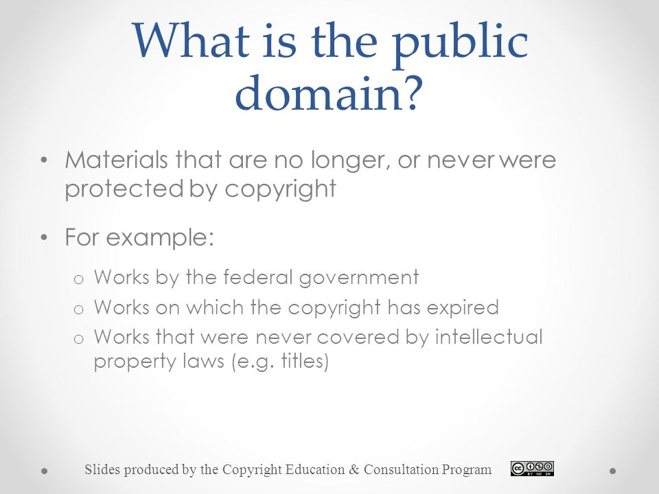 What Is The Public Domain
