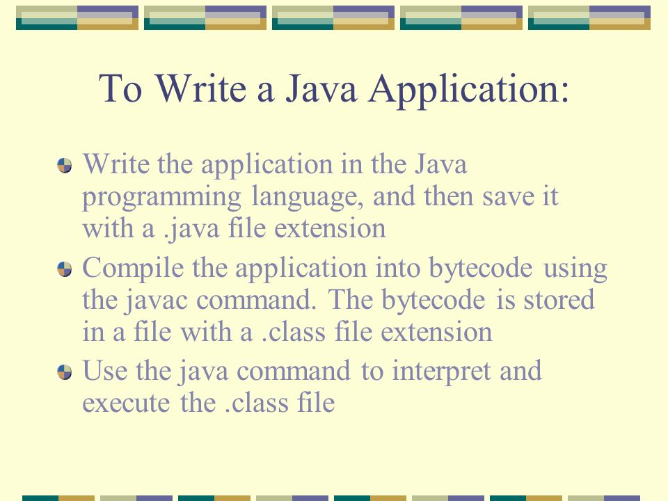 java programming applets topics write an html document to host an 4 to
