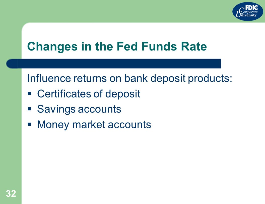 Bank liquidity and wholesale funding part i bank funding and 32 32 changes in the fed funds rate influence returns on bank deposit products certificates of deposit savings accounts money market accounts xflitez Image collections