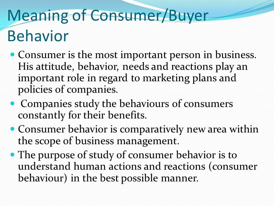 consumer behaviour its scope