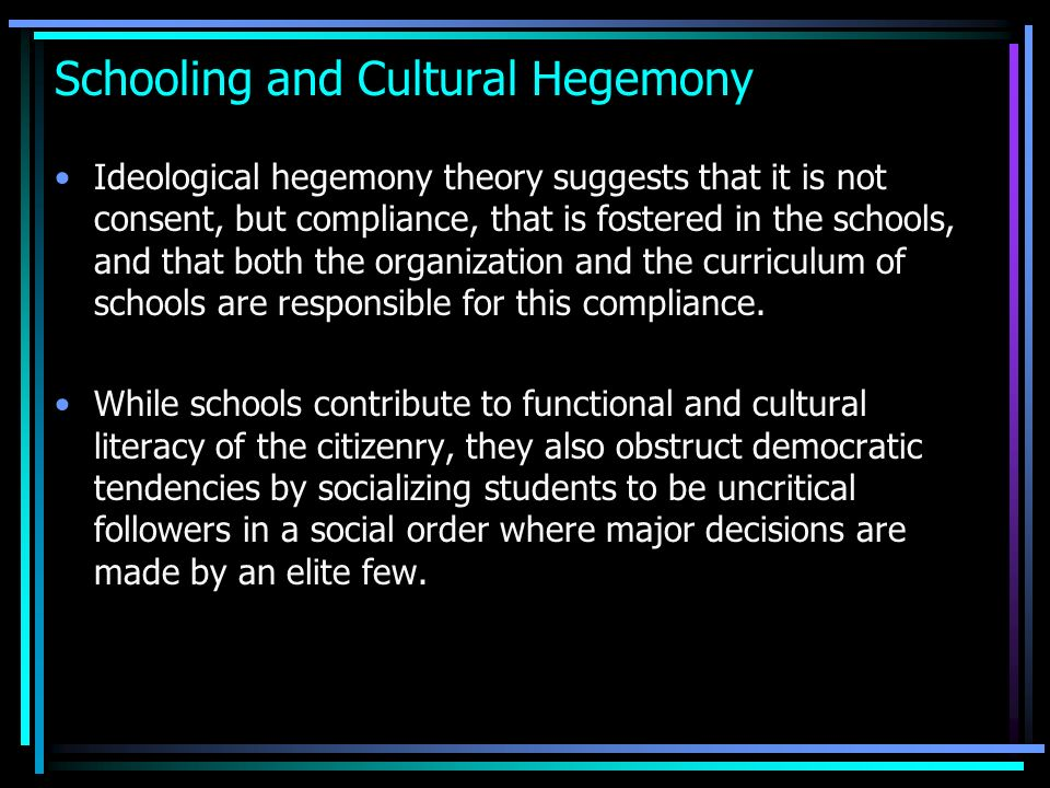 hegemony essays Definition essay - the true meaning of hegemony 585 words | 3 pages hegemony - the true meaning hegemony was derived from the greek word egemonia, meaning leader or ruler, often in the sense of a state other than his own (williams 144.