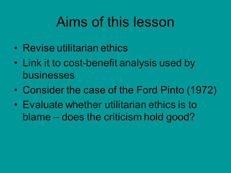 Ford pinto case study analysis