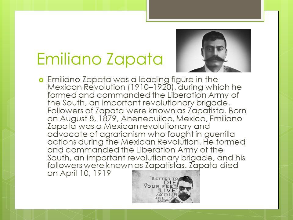 Image result for mexico's emiliano zapata was born