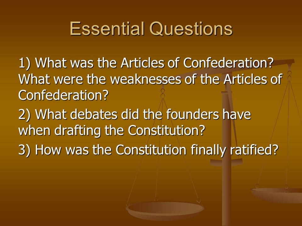 how are the articles of confederation
