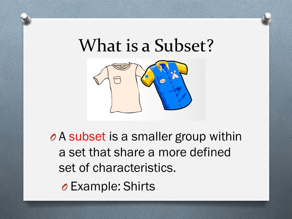 What is a Subset.